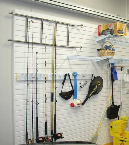 FX2000 Garage Wall Fishing Pole Rack Storage