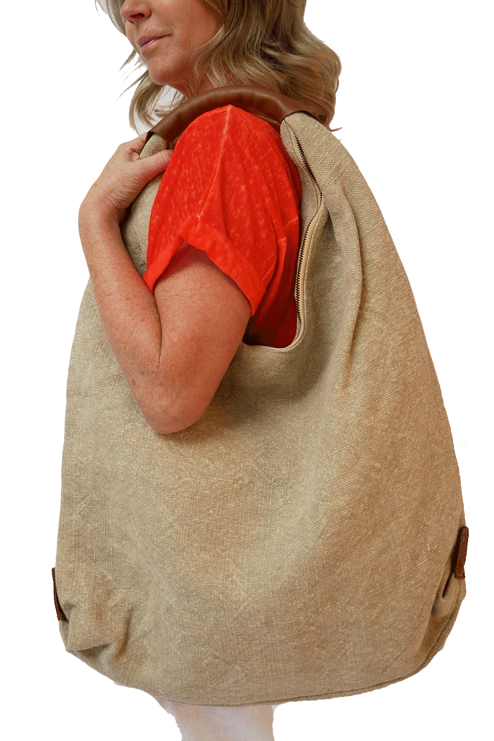 Large Beige Linen Bag