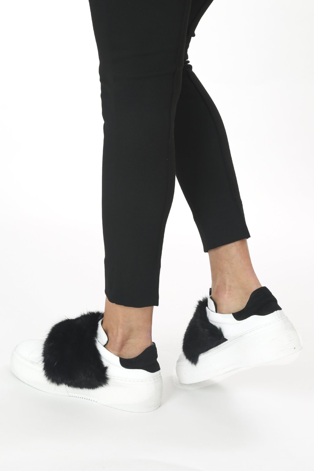 Millan Softy Bianco Fur Embellished Sneaker