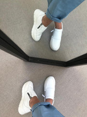Hedvig Sauvage Bianco Zipped Sneaker