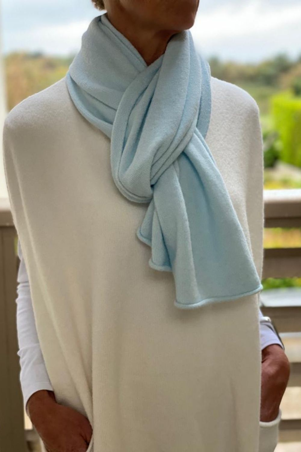 Ice Blue Scarf