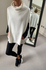 Load image into Gallery viewer, Soft Cream Sleeveless Cowl Neck