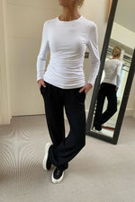 Load image into Gallery viewer, KATIA Mid Length long sleeve Tshirt White