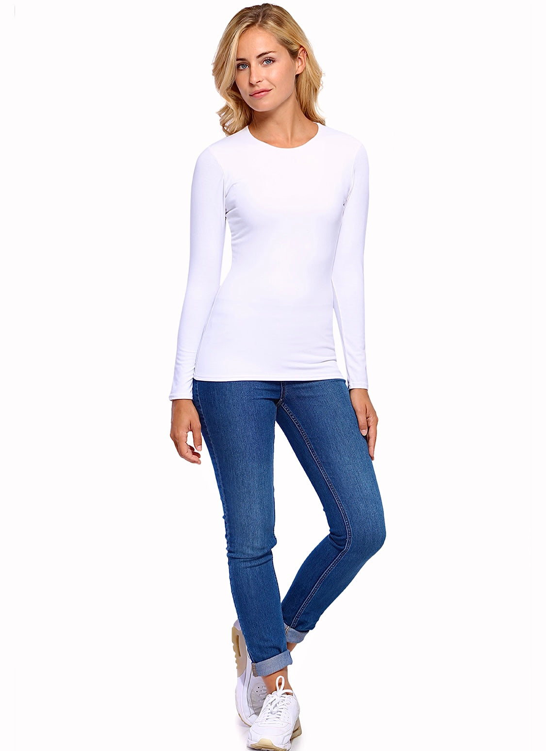 KATIA Mid Length long sleeve Tshirt White