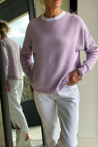 Lavender Zoe Long sleeve Round Neck