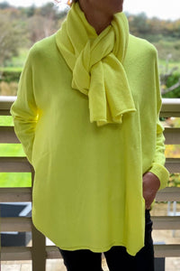 Neon Yellow Knit Scarf
