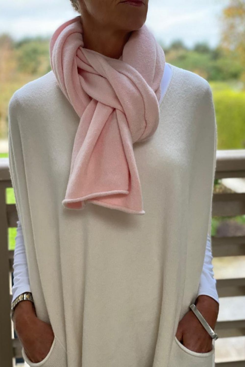 Pale Pink Scarf