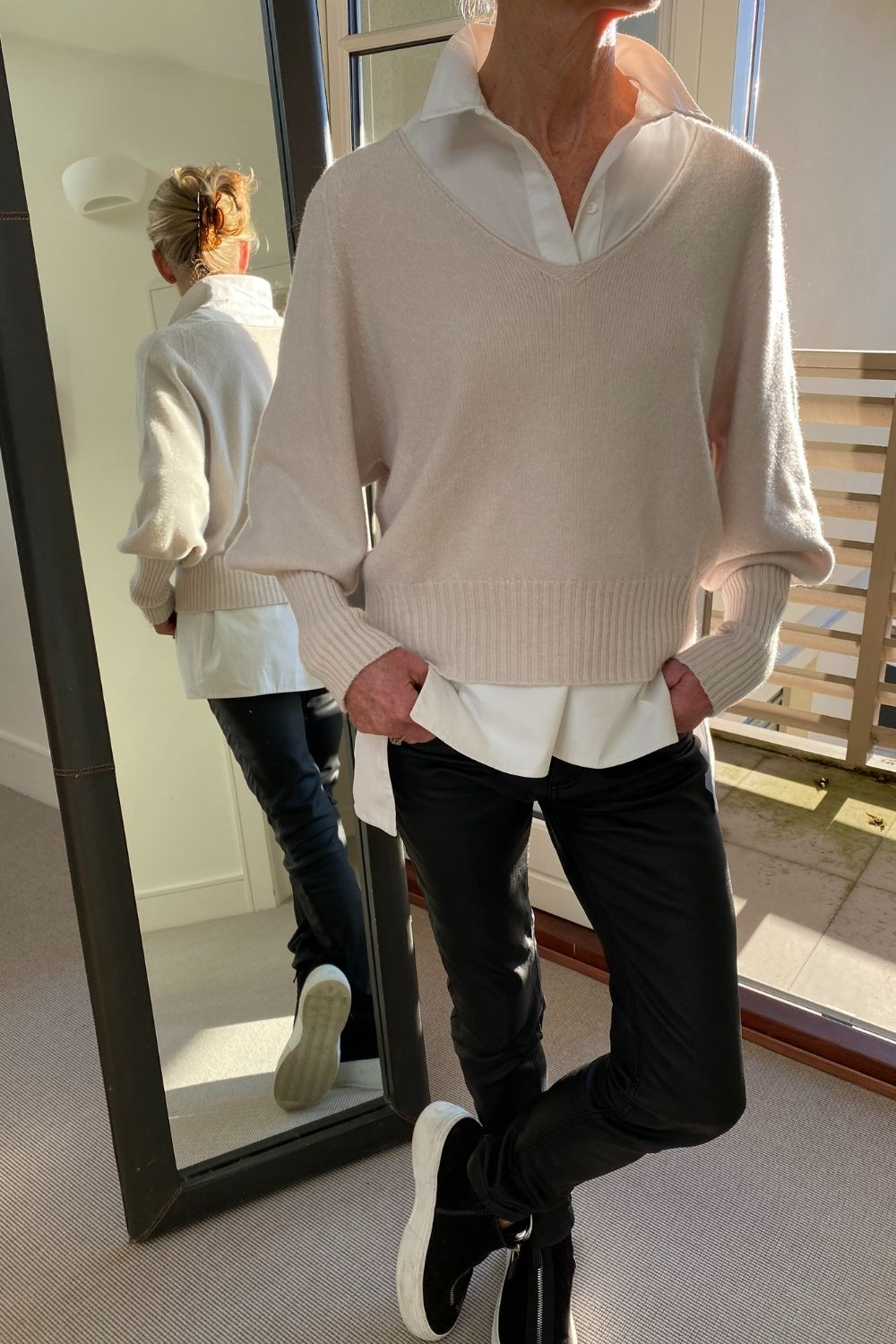 Sand Bell Sleeve Short Jumper