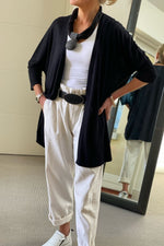 Load image into Gallery viewer, Sirine Black Edge to Edge Long Cardi