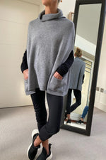 Load image into Gallery viewer, Dark Grey Sleeveless Cowl Neck