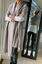 Load image into Gallery viewer, Cashmere Big Wrap in Warm Taupe