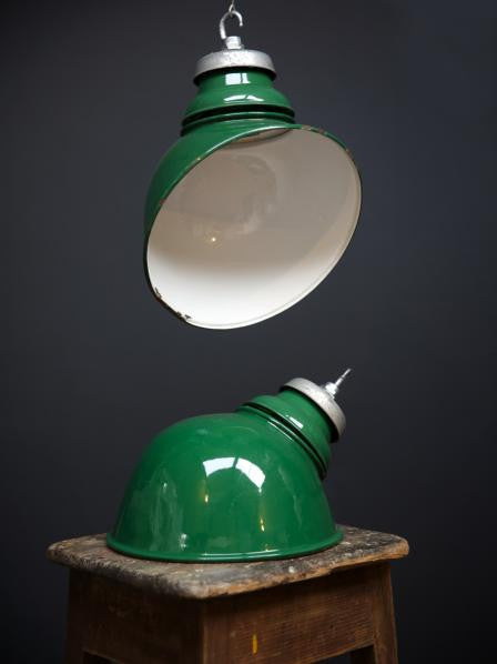 Green Parabolic Pendant Light