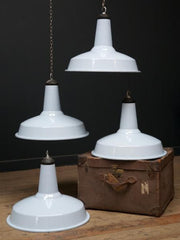 Baby Blue Industrial Pendant Lights