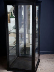 Ebonised Corner Display Cabinet