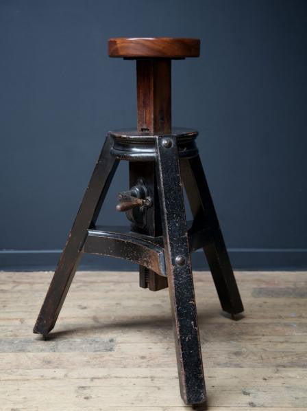 Ebonised Sculptors Stand