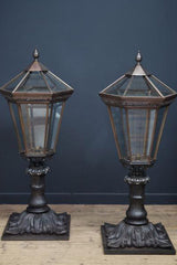 Bronze Gate Pier Lanterns