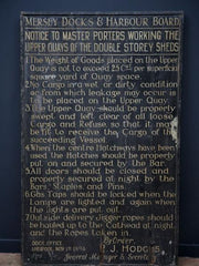 Liverpool Docks Sign Board