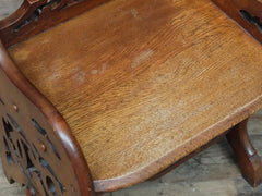 Victorian Oak Hall Chair
