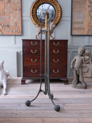 Country House Gilt Brass Floor Lamp