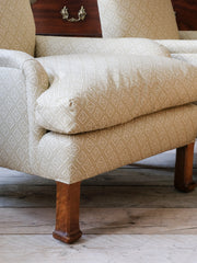 A Pair of Upholstered Armchairs by Whytock & Reid