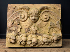 Terracotta Plaque Cherub