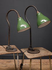 Pair Of Industrial Desk Lamps