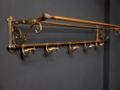 Brass Hat & Coat Rack