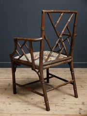 Faux Bamboo Armchair