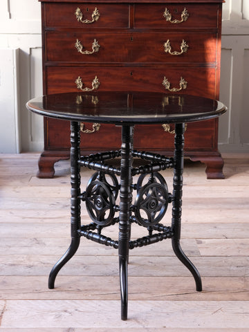 Ebonised Aesthetic Movement Centre Table
