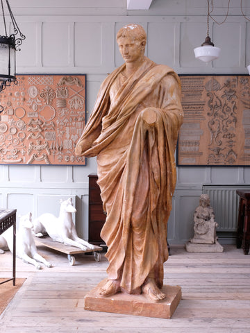 A 19th Century Plaster Statue Of Augustus