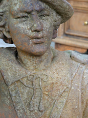 French Cast Iron Bust
