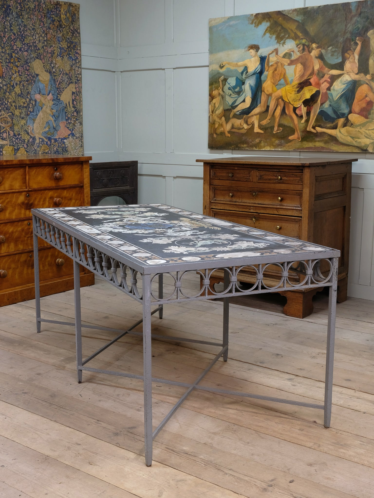 A 19th Century Scagliola Table Top