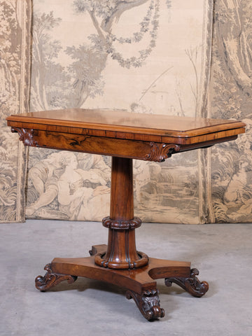 Rosewood Console Card Table