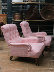 A Pair Low Armchairs
