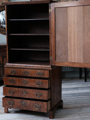 Walnut Cabinet on Chest
