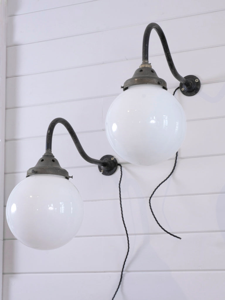 Opaline Swan Neck Wall lights