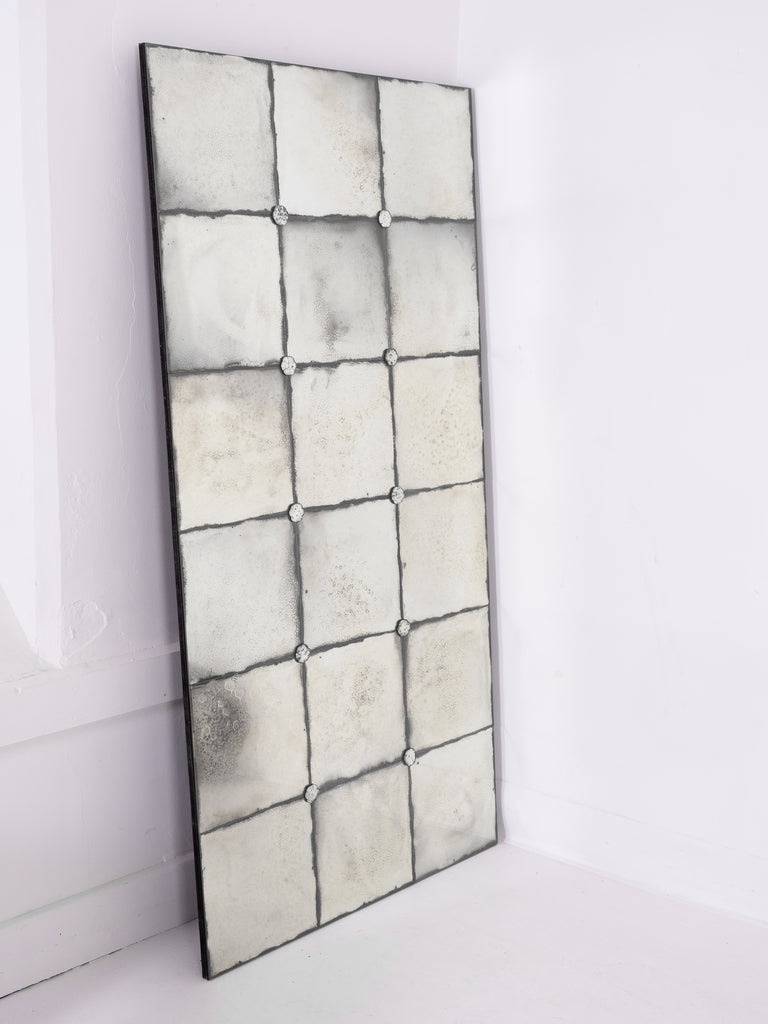 Foxed Studded Mirror