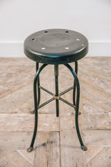 Brass Hoof Steel Stool