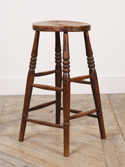 Tall 19th Century Stool
