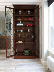 Tall Diamond Glazed Bookcase