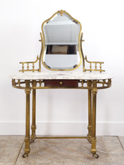 Brass & Marble Dressing Table