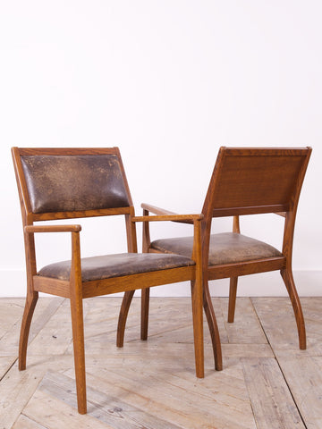 1970s Oak Armchairs