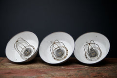 Caged Enamel Pendant Light
