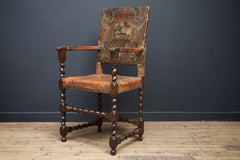 Painted Leather Arm Chair