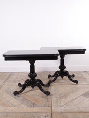 Ebonised Card Tables