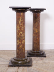 Marbleised Timber Columns