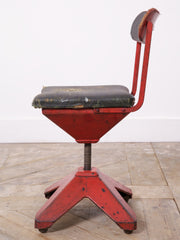 Red Industrial Chair