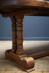 Slab Oak Trestle Table
