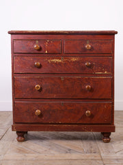 Original Red Painted Chest