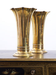 Pair of Brass Vases